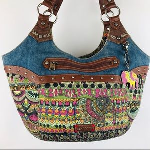 Sakroots Elephant Peace Handbag